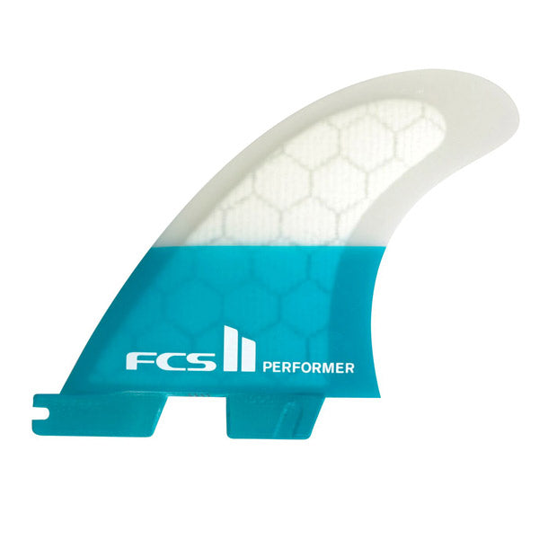 FCS II Performer PC Tri Fin Set-Teal-X-Small