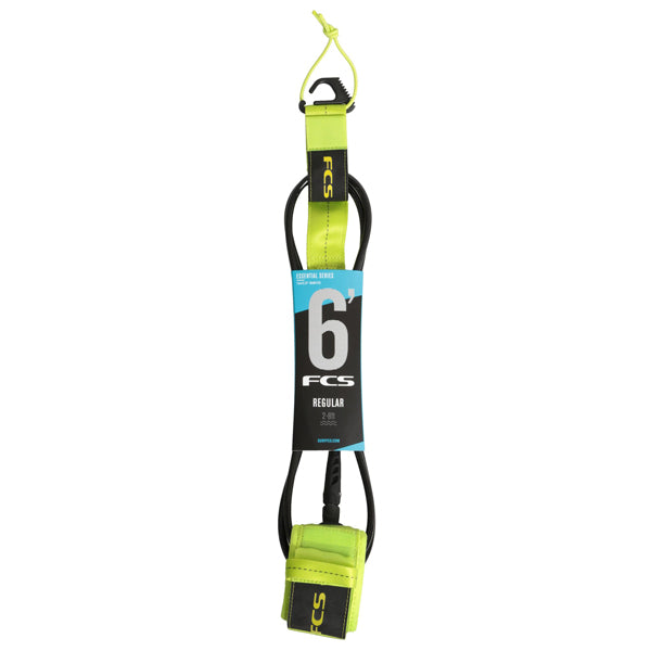 FCS Regular Essential Leash-6' x 7mm-Fluro Green