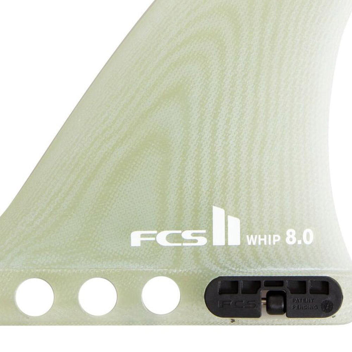 FCS II Whip PG Single Fin-Clear-8""