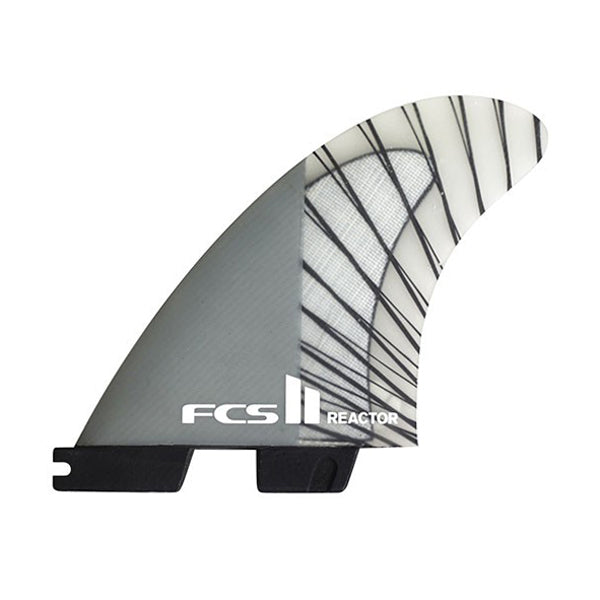 FCS II Reactor PC Carbon Tri Fin Set-Charcoal-Large