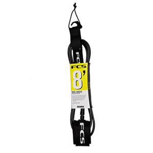 FCS Big Wave Leash-8' x 7mm-Black