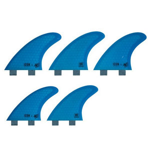 Creatures Icon Arc FCS Tri/Quad Fin Set-Medium-Cyan