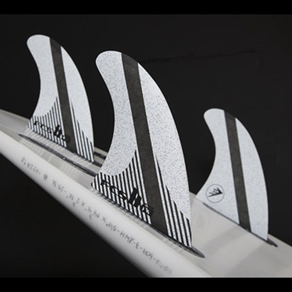 FCS II FW PC Carbon Tri Fin Set-White-Medium