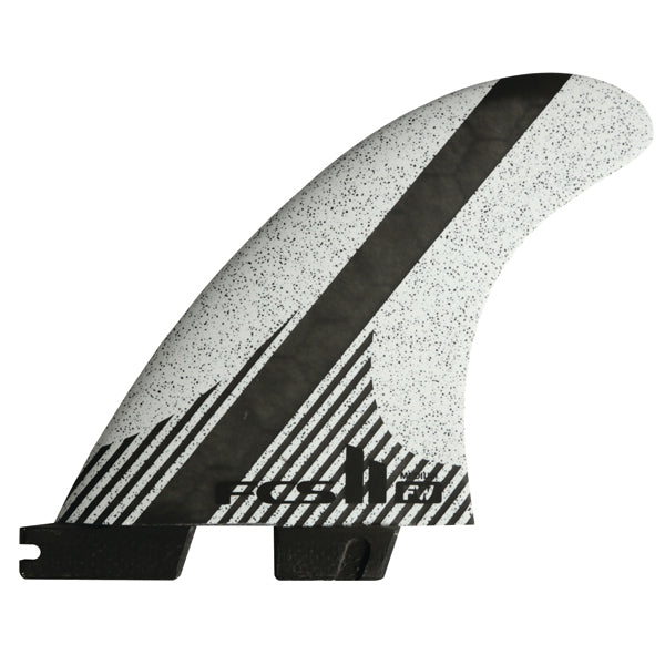 FCS II FW PC Carbon Tri/Quad Fin Set-White-Medium