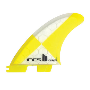 FCS II Carver PC Tri Fin Set-Yellow-Large