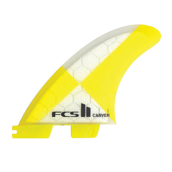 FCS II Carver PC Tri Fin Set-Yellow-Medium