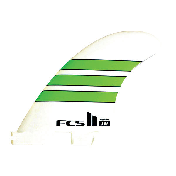 FCS II JW PG Tri Fin Set-Green-Medium