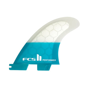 FCS II Performer PC Tri Fin Set-Teal-Large