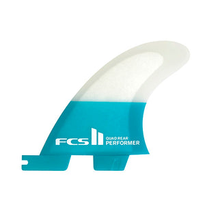 FCS II Performer PC Quad Rear Fin Set-Teal-Small