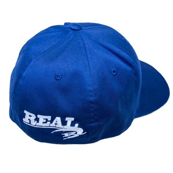 REAL Corp Flexfit Hat-Navy/White