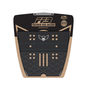 Freedom Foil Boards Tail 2 Piece Traction Pad-Black
