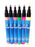 Boardstix 3mm Fine Tip Fluorescent Pens-6 Pack