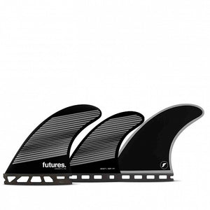 Futures F6 Legacy Tri/Quad Fin Set-Gray/Black-Medium