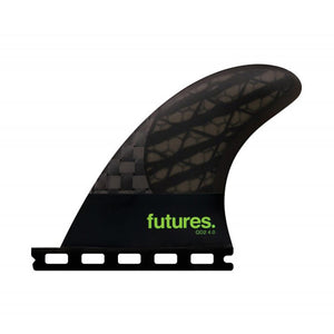 Futures QD2 4.0 Blackstix 3.0 Quad Trailer Fin Set-Green