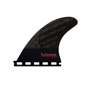 Futures QD2 4.15 Blackstix 3.0 Quad Trailer Fin Set-Violet