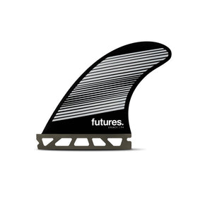 Futures F4 Legacy Tri Fin Set-Gray/Black-Small