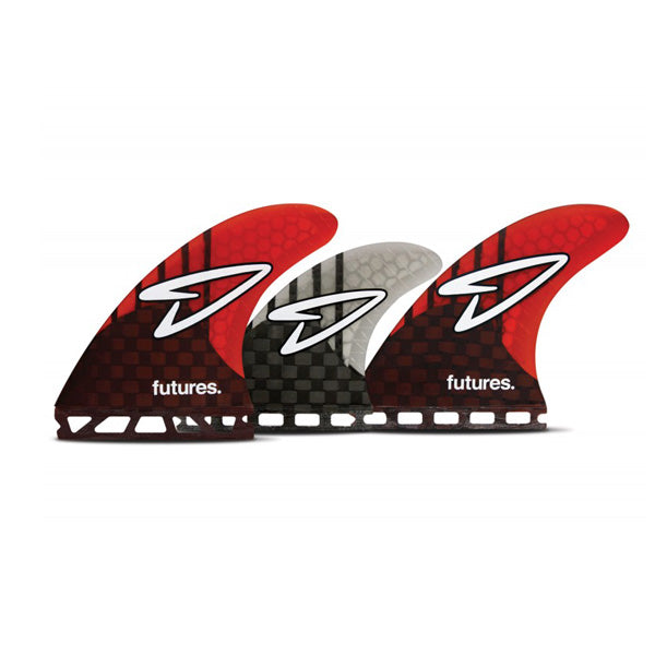 Futures Roberts Generation Tri/Quad Fin Set-Red-Medium