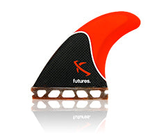 Futures Lost Honeycomb/Carbon Tri Fin Set-Red-Medium