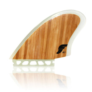 Futures K1 Fiberglass Twin Fin Set-Bamboo