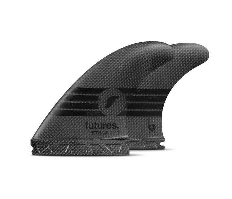 Futures R4 Beta 2.0 Proto Tri Fin Set-Black-Small