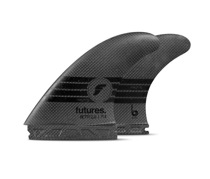 Futures R8 Beta 2.0 Proto Tri Fin Set-Black-Large