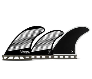 Futures F4 Legacy Tri/Quad Fin Set-Gray/Black-Small