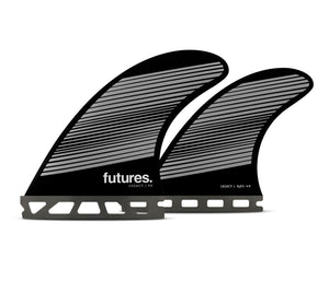 Futures F6 Legacy Quad Fin Set-Gray/Black-Medium