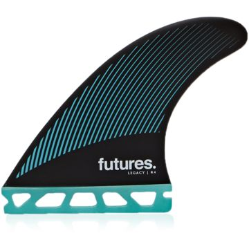 Futures R4 Legacy Tri Fin Set-Teal/Black-Small