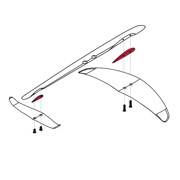 Liquid Force Happy Shim Set-HD Fuselage