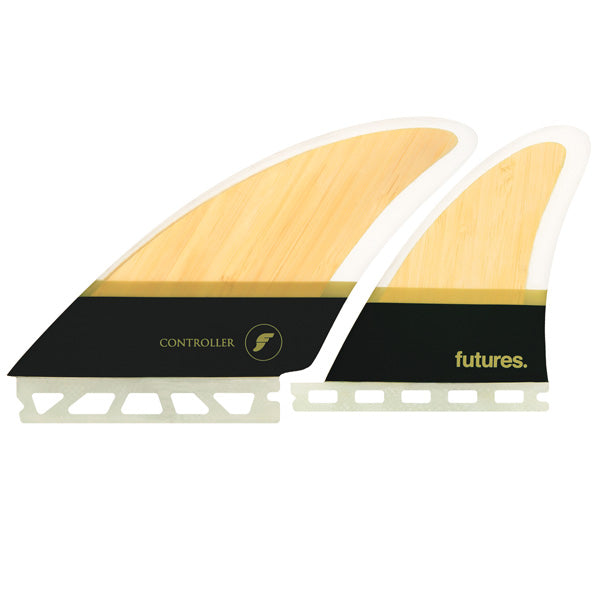 Futures Controller Honeycomb Quad Fin Set-Bamboo