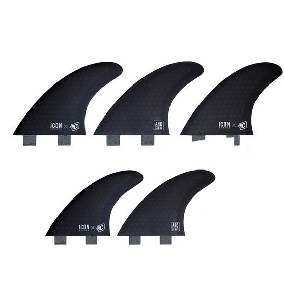 Creatures Icon Arc FCS Tri/Quad Fin Set-Large-Smoke