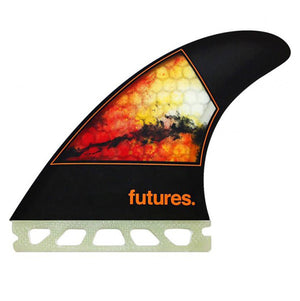 Futures Jordy Honeycomb Tri Fin Set-Orange-Medium