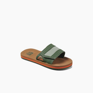 Reef Kids Ahi Slide Sandal-Tan/Olive