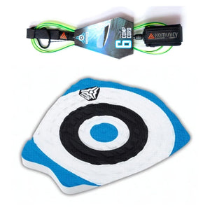 Komunity Bullseye 1 Piece Traction Pad with Ultimate Comp Leash-6'