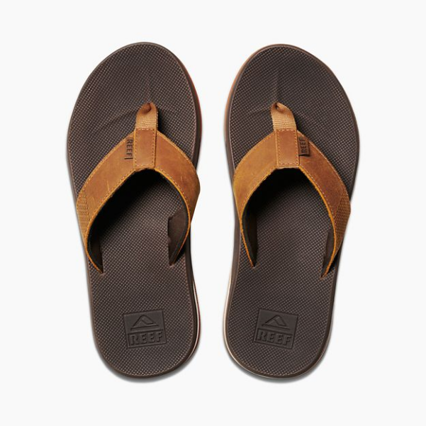 775e75666be9 Reef Leather Fanning Low Sandal-Brown — REAL Watersports