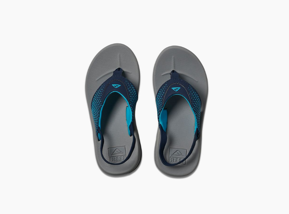 Reef Little Rover Sandal-Grey/Navy