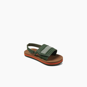 Reef Little Ahi Slide Sandal-Tan/Olive