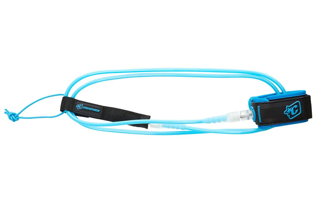 "Creatures Pro Leash-7' x 9/32""-Cyan/Clear"