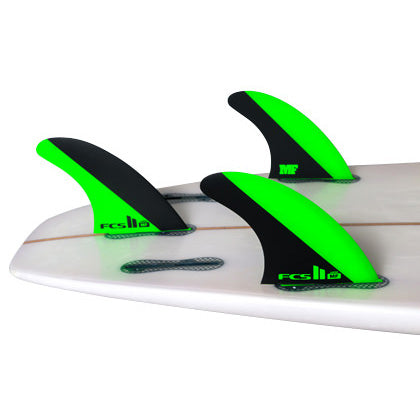 FCS II MF PC Tri Fin Set-Green/Black-Large