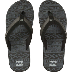 Billabong All Day Impact Print Sandal-Black