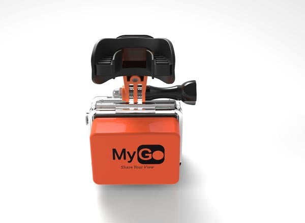 MyGo GoPro Mouth Mount-Orange