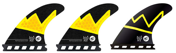 Creatures Nat Arc Futures Tri Fin Set-Small-Black/Yellow