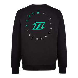 North Flash Crew Sweatshirt-Black