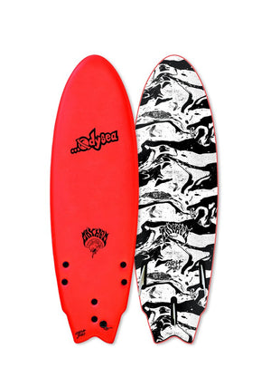 "Catch Surf Lost Round Nose Fish 5'5""-Red"