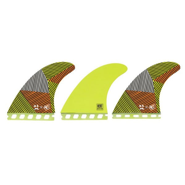 Creatures Mitch Vert Futures Tri Fin Set-Orange Lime-Medium