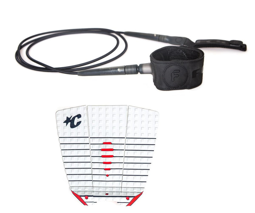 Creatures Mick Wide Traction Pad with FCS Freedom Leash-6'
