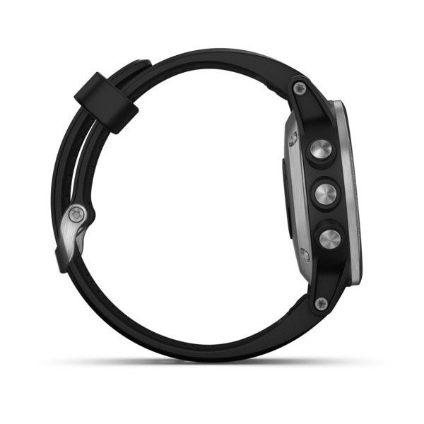 Garmin Fenix 5S Watch-Silver with Black Band