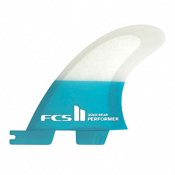 FCS II Performer PC Quad Rear Fin Set-Teal-Large