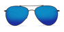 Costa Piper Sunglasses-Shiny Black/Blue Mirror 580G