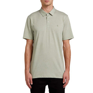 Volcom Wowzer Polo Shirt-Seagrass Green